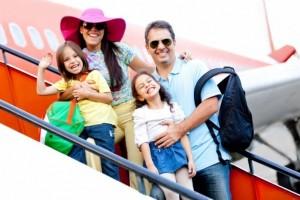 семья путешествует